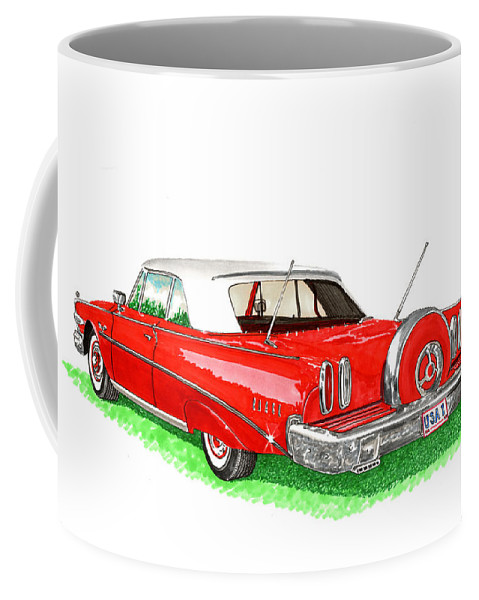 1960 Ford Edsel Ranger Convertible Coffee Mug featuring the painting 1960 Edsel Ranger Continental Kit by Jack Pumphrey