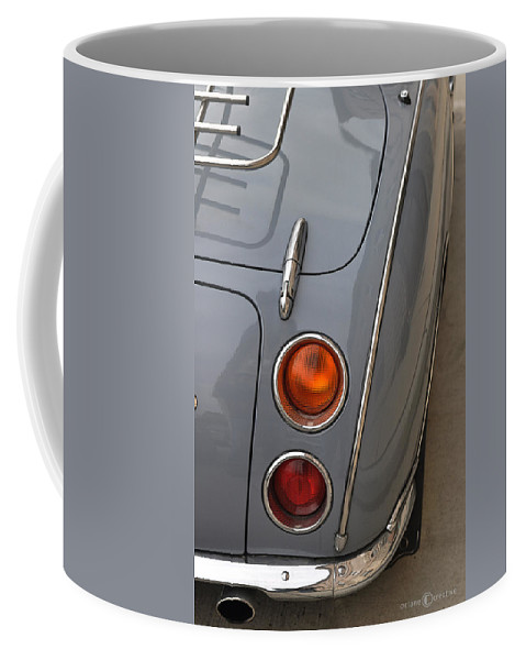 Nissan Coffee Mug featuring the photograph 1991 Nissan Figaro Taillights by Tim Nyberg