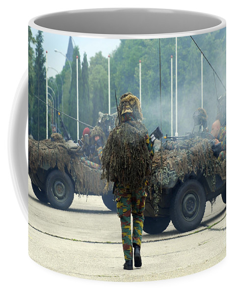 Adults Only Coffee Mug featuring the photograph A Recce Or Scout Team Of The Belgian by Luc De Jaeger