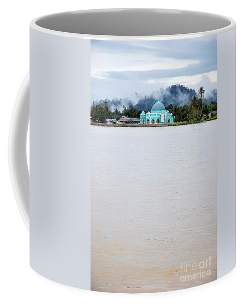 River Coffee Mug featuring the photograph A Small Mosque On The Banks Of The River by Antoni Halim