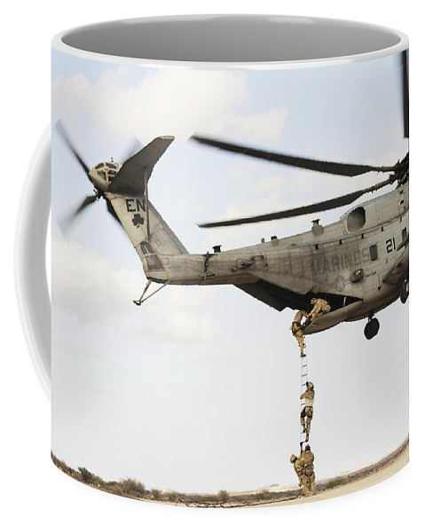 Africom Coffee Mug featuring the photograph Air Force Pararescuemen Conduct by Stocktrek Images