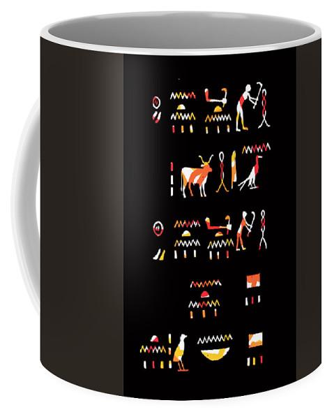 Ancient Egyptian Hieroglyph Coffee Mug featuring the photograph Ancient Egyptian Hieroglyphs by James Hill