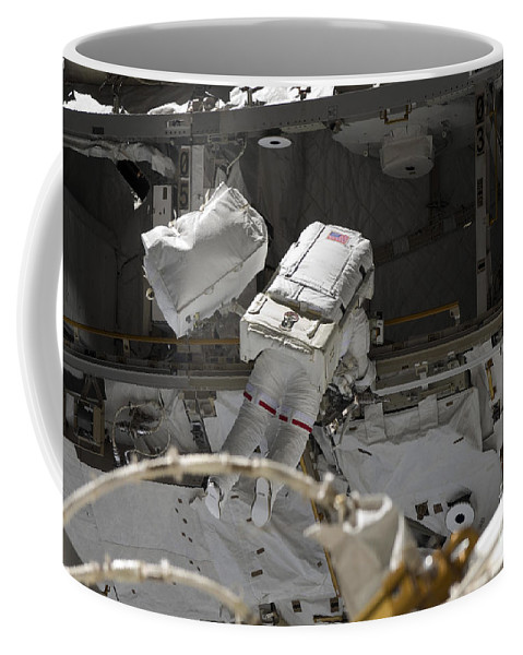 Construction Coffee Mug featuring the photograph Astronaut Participates by Stocktrek Images