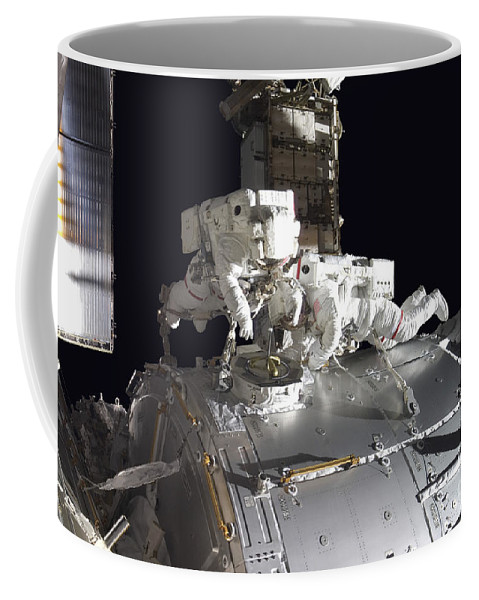 Adults Only Coffee Mug featuring the photograph Astronauts Participate by Stocktrek Images