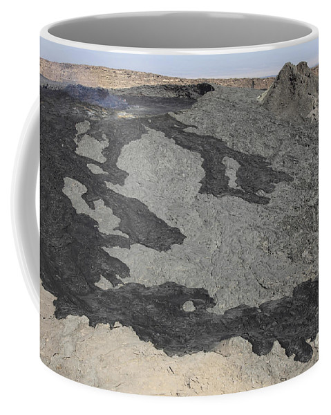 Hornito Coffee Mug featuring the photograph Basaltic Lava Flow From Pit Crater by Richard Roscoe