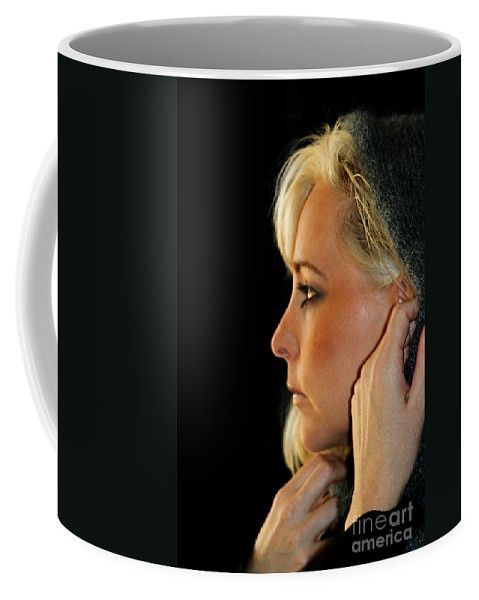 Young Coffee Mug featuring the photograph Blond Woman by Henrik Lehnerer