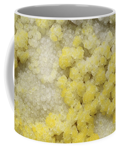 Full Frame Coffee Mug featuring the photograph Close-up Of Yellow Salt Crystals by Richard Roscoe