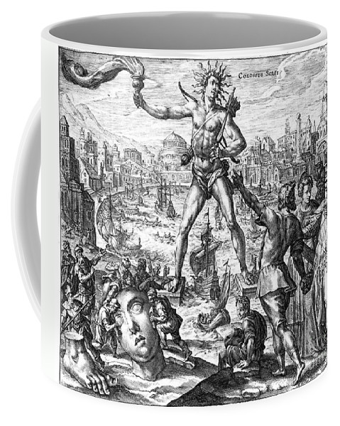 3rd Century B. C. Coffee Mug featuring the photograph Colossus Of Rhodes by Granger
