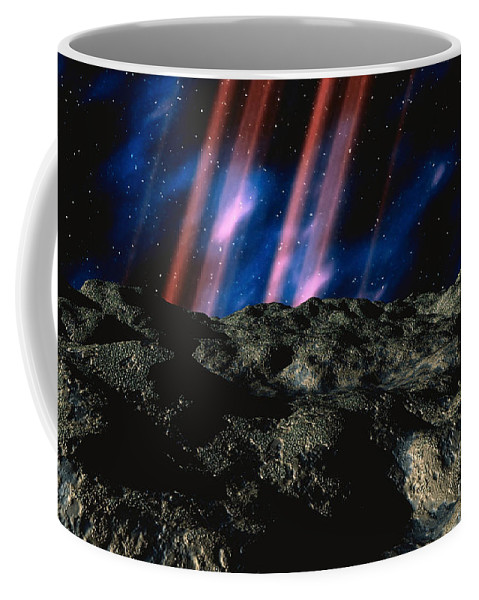 Horizontal Coffee Mug featuring the digital art Computer Space Image by Stocktrek Images
