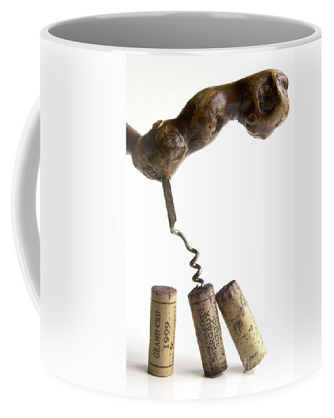 Cork Coffee Mug featuring the photograph Corks Of French Wine. by Bernard Jaubert