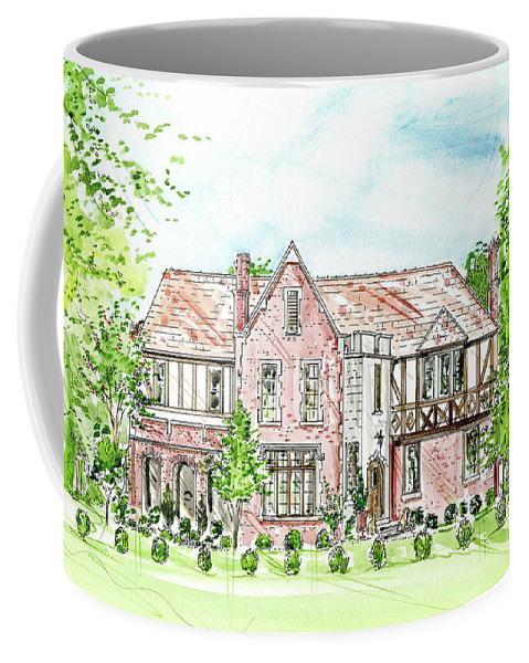 House Rendering Coffee Mug featuring the painting Custom House Rendering by Lizi Beard-Ward