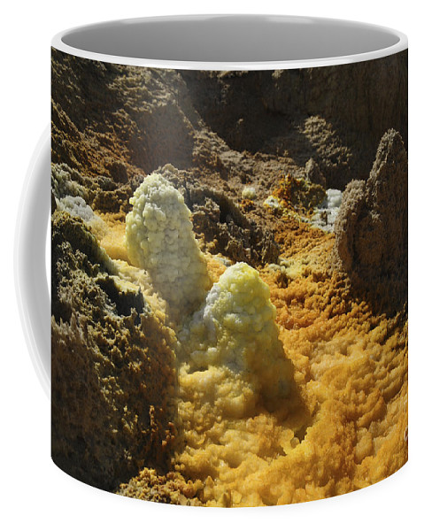 Hot Springs Coffee Mug featuring the photograph Dallol Geothermal Area, Danakil by Martin Rietze