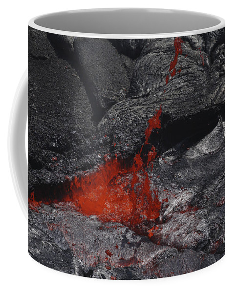 No People Coffee Mug featuring the photograph Erta Ale Fountaining Lava Lake, Danakil by Martin Rietze