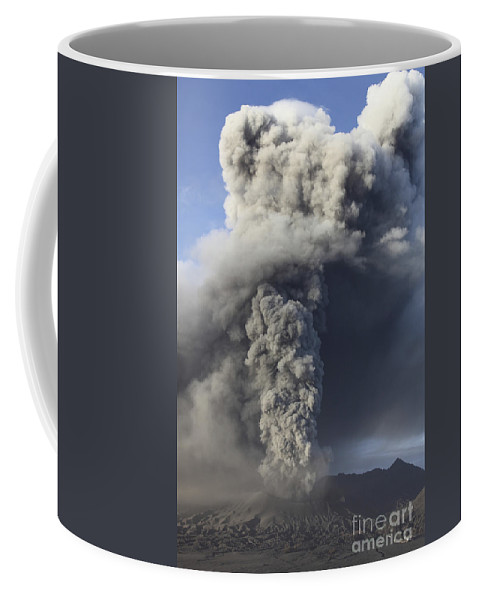 Massif Coffee Mug featuring the photograph Eruption Of Ash Cloud From Mount Bromo by Richard Roscoe