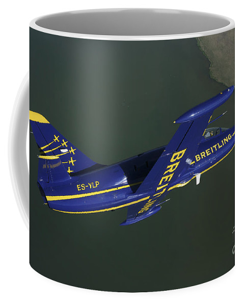 Transportation Coffee Mug featuring the photograph Flying With The Aero L-39 Albatros by Daniel Karlsson