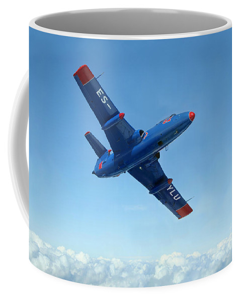 Transportation Coffee Mug featuring the photograph L-29 Delfin Standard Jet Trainer by Daniel Karlsson