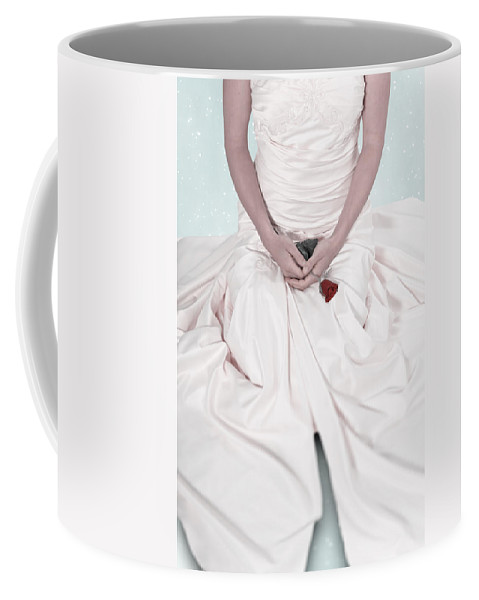 Weiblich Coffee Mug featuring the photograph Lady With A Rose by Joana Kruse
