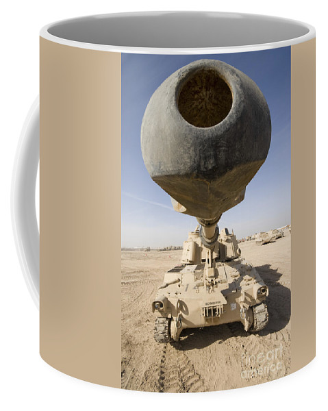 155mm Coffee Mug featuring the photograph M109 Paladin, A Self-propelled 155mm by Terry Moore