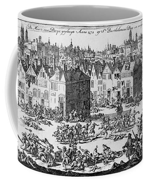 1572 Coffee Mug featuring the photograph Massacre Of Huguenots by Granger
