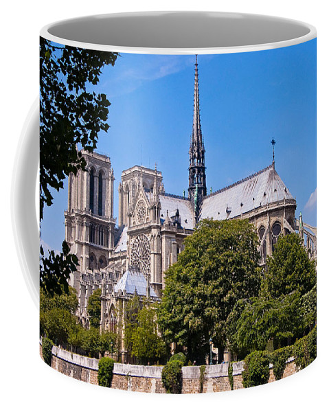 France Coffee Mug featuring the photograph Notre Dame Cathedral Paris France by Jon Berghoff