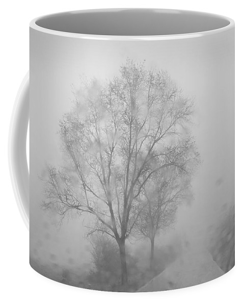 Black And White Coffee Mug featuring the photograph Rainy Days by Guido Montanes Castillo