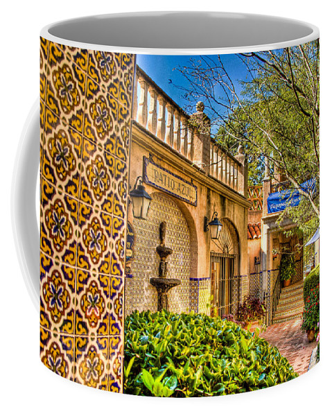 Sedona Tlaquepaque Shopping Center Coffee Mug featuring the photograph Sedona Tlaquepaque Shopping Center by Jon Berghoff