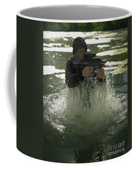 Special Operations Forces Coffee Mug featuring the photograph Special Operations Forces Soldier by Tom Weber