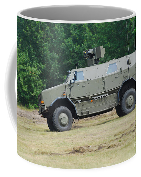 Military Coffee Mug featuring the photograph The Dingo 2 In Use By The Belgian Army by Luc De Jaeger