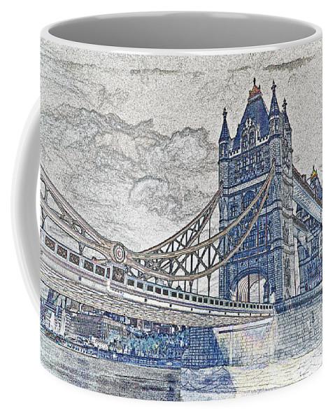 Tower Bridge Coffee Mug featuring the digital art Tower Bridge Art by David Pyatt