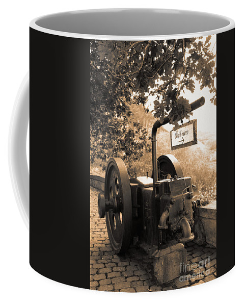 Azores Coffee Mug featuring the photograph Vintage Machinery by Gaspar Avila