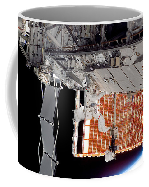 Adults Only Coffee Mug featuring the photograph Astronaut Participates by Stocktrek Images