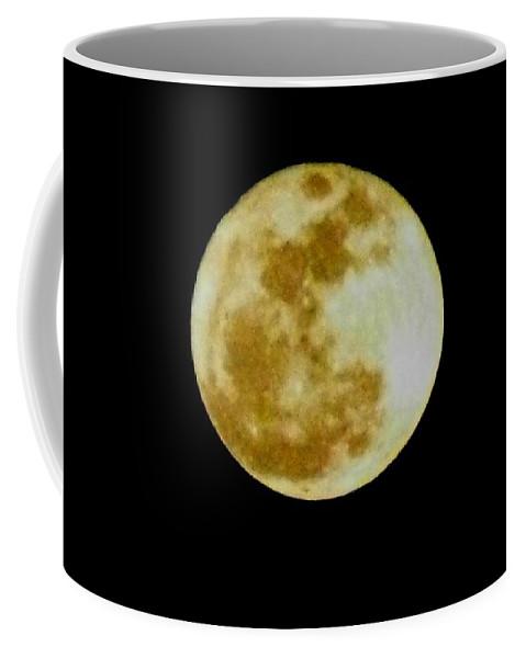 Moon Coffee Mug featuring the photograph 2011 Full Moon by Maria Urso