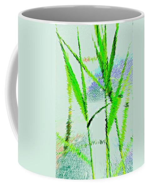 Monet Coffee Mug featuring the digital art Water Reed Digital Art by David Pyatt