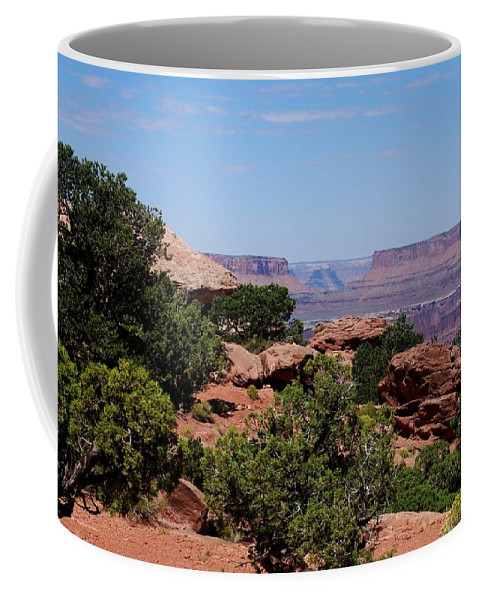 Canyonlands Coffee Mug featuring the photograph By The Canyon by Dany Lison