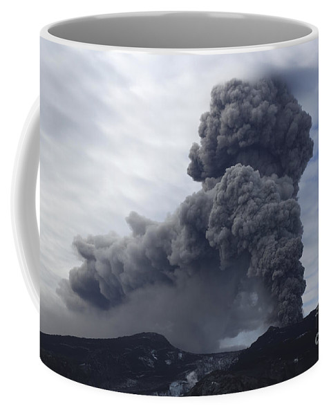 No People Coffee Mug featuring the photograph Eyjafjallajökull Eruption, Iceland by Martin Rietze