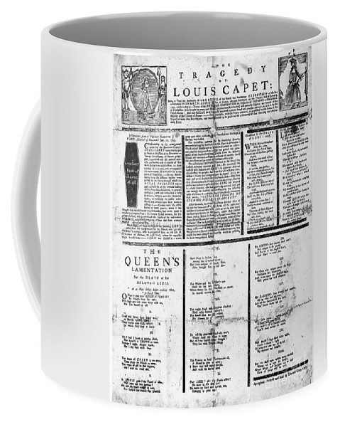 1793 Coffee Mug featuring the photograph Louis Xvi: Execution, 1793 by Granger