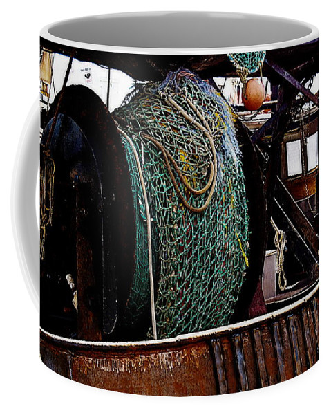 New Bedford Coffee Mug featuring the photograph Nets by Marysue Ryan
