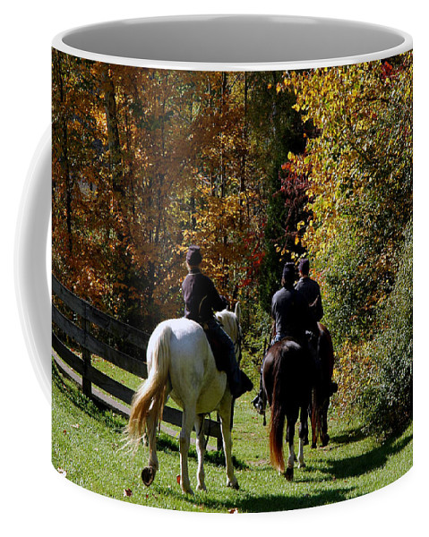 Usa Coffee Mug featuring the photograph Riding Soldiers by LeeAnn McLaneGoetz McLaneGoetzStudioLLCcom