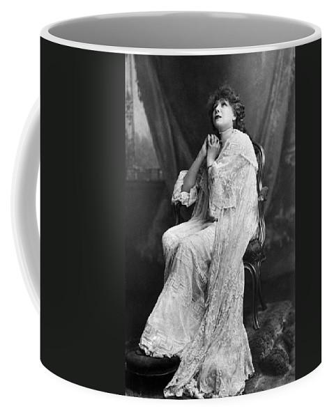 1885 Coffee Mug featuring the photograph Sarah Bernhardt (1844-1923) by Granger