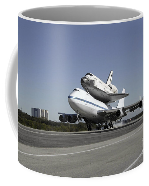 Endeavour Coffee Mug featuring the photograph Space Shuttle Endeavour Mounted by Stocktrek Images