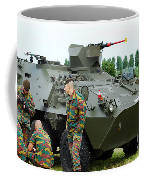 12.7mm Coffee Mug featuring the photograph The Pandur 6x6 Family Of Wheeled by Luc De Jaeger