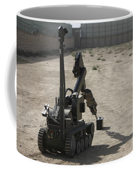Robot Coffee Mug featuring the photograph The Teodor Heavy-duty Bomb Disposal by Terry Moore