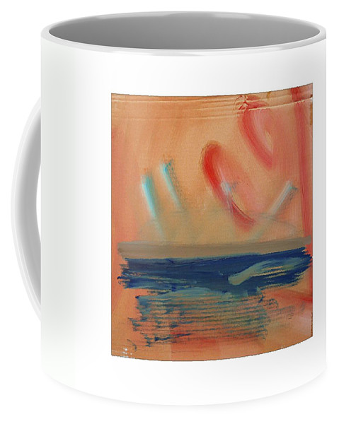 Tsunami Coffee Mug featuring the painting Tsunami by Charles Stuart