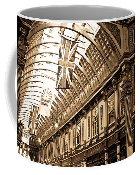 Leadenhall Market Coffee Mug featuring the photograph Leadenhall Market London by David Pyatt