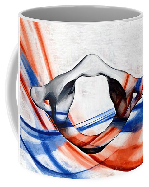 Chiropractic Coffee Mug featuring the digital art Atlas Anatomy Art by Joseph Ventura