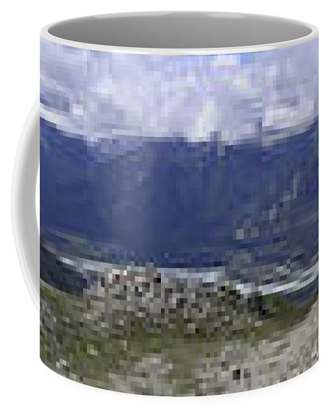 360 Coffee Mug featuring the photograph 360 Roche Jacques Mountain by Darcy Michaelchuk