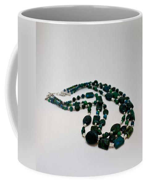 Original Coffee Mug featuring the jewelry 3609 Australian Jasper Triple Strand Necklace by Teresa Mucha