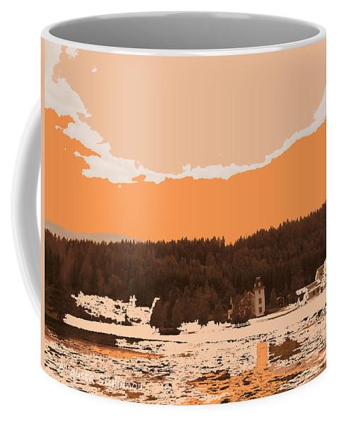 Augusta Stylianou Coffee Mug featuring the digital art Norway Landscape by Augusta Stylianou