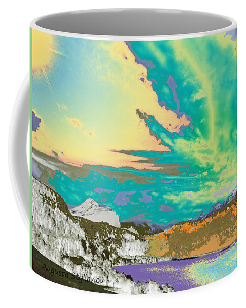 Augusta Stylianou Coffee Mug featuring the digital art Space Landscape by Augusta Stylianou