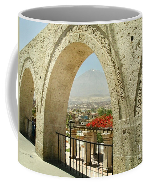 Arequipa Coffee Mug featuring the digital art Arequipa Peru by Carol Ailles